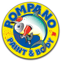 Pompano Paint & Body Logo